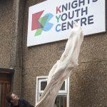 George Clarke pulls down veil